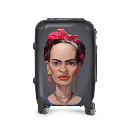 Frida Kahlo Celebrity Caricature Suitcase