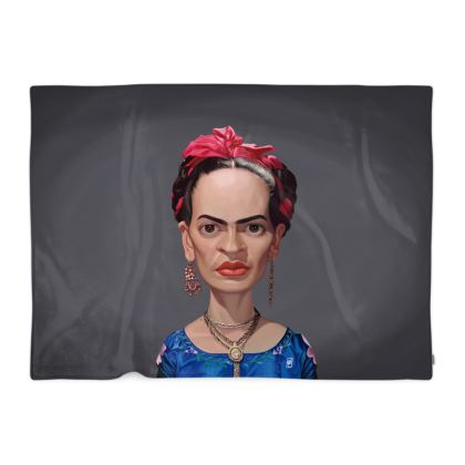 Frida Kahlo Celebrity Caricature Blanket