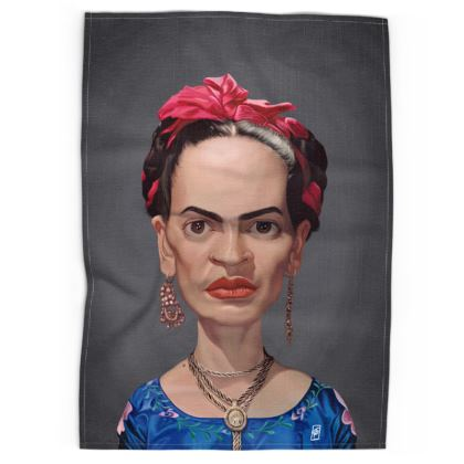 Frida Kahlo Celebrity Caricature Tea Towels