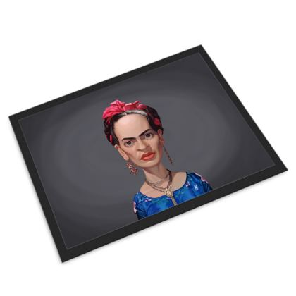 Frida Kahlo Celebrity Caricature Door Mat