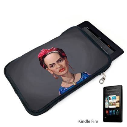 Frida Kahlo Celebrity Caricature Kindle Case
