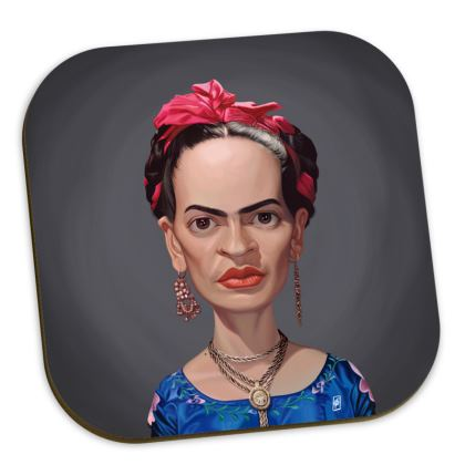 Frida Kahlo Celebrity Caricature Coasters