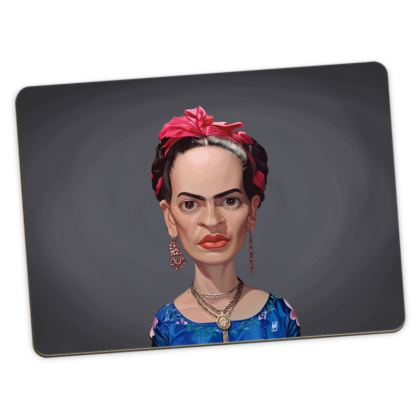 Frida Kahlo Celebrity Caricature Large Placemats
