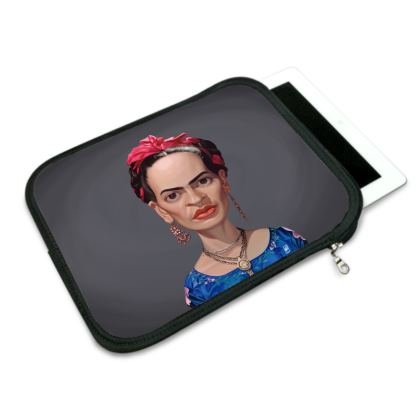 Frida Kahlo Celebrity Caricature iPad Slip Case