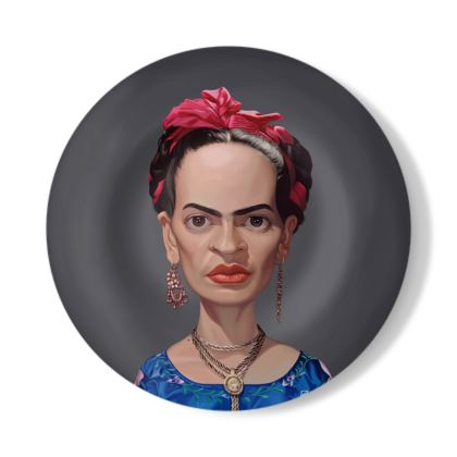 Frida Kahlo Celebrity Caricature Decorative Plate