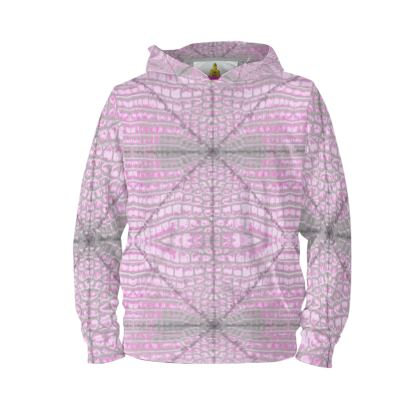 Hoodie PULLOVER soft rosa KROKODIL size M