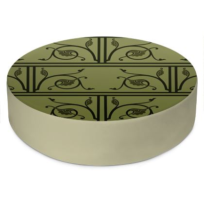Round Floor Cushions - Medieval Pattern from The Practical Decorator 1 of 8