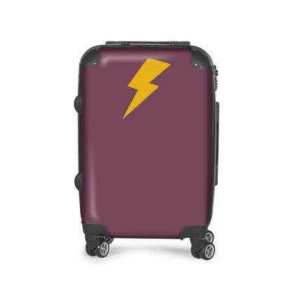 Vintage mauve Suitcase.