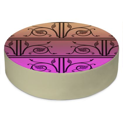Round Floor Cushions - Medieval Pattern from The Practical Decorator 7 of 8