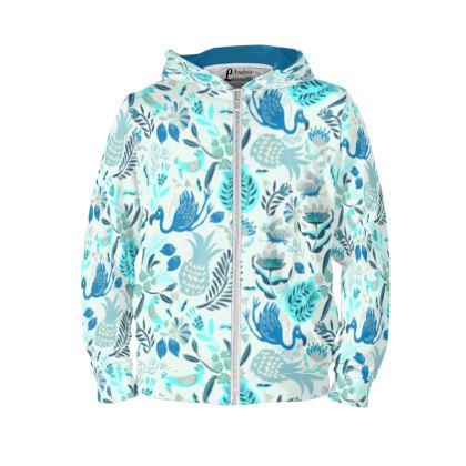 Sweat à Capuche personnalisé tropical bleu