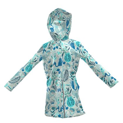 Veste imperméable tropical bleu