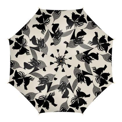 Abstract Stripe (Black & White) - Umbrella