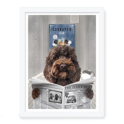 THE DAILY DOG CHOCOLATE FRAMED PRINT