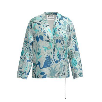 Veste blazer tropical bleu