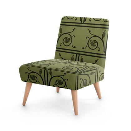 Occasional Chair - Medieval Pattern from The Practical Decorator 1 of 8