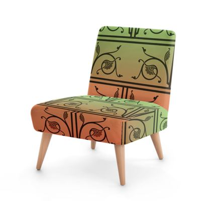 Occasional Chair - Medieval Pattern from The Practical Decorator 2 of 8