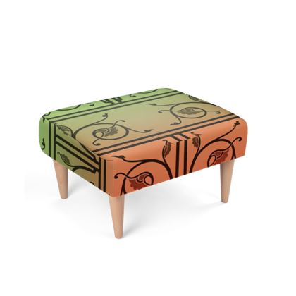 Footstool - Medieval Pattern from The Practical Decorator 2 of 8