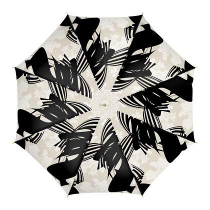 Abstract Stripe and Hydrangea - Umbrella