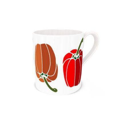 Peppers Bone China Mug