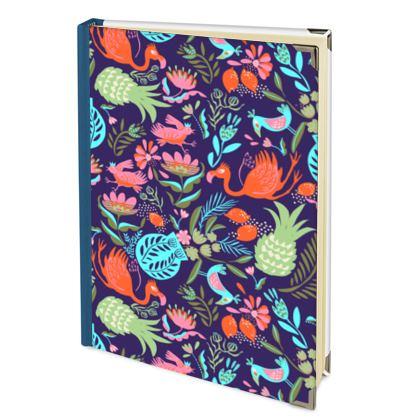 Journal tropical violet multicolore