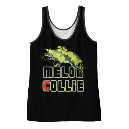 Ladies Vest Top - Melon Collie Skater Trick