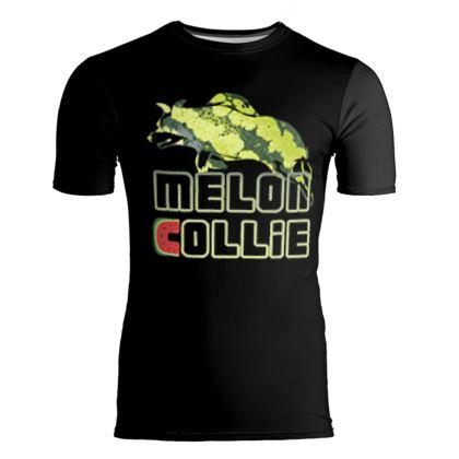 Slim Fit Mens T-Shirt - Melon Collie Skater Trick