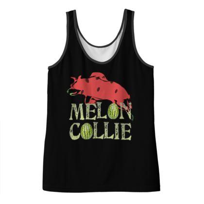 Ladies Vest Top - Melon Collie Skateboard Trick