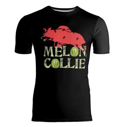 Slim Fit Mens T-Shirt - Melon Collie Skateboard Trick