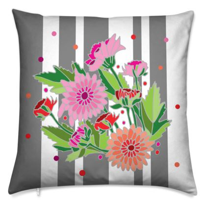 Floral Chrysanthemum Cushions