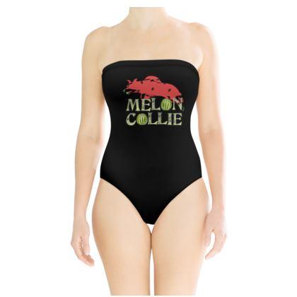 Strapless Swimsuit - Melon Collie Skateboard Trick
