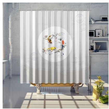 Shower Curtain - Large 'Clear Water Koi' Artwork Two