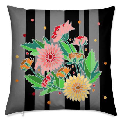 Dark Floral Cushions