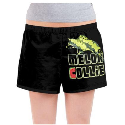Ladies Pyjama Shorts - Melon Collie Skater Trick