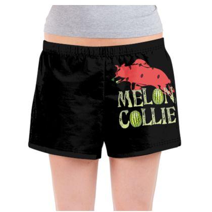 Ladies Pyjama Shorts - Melon Collie Skateboard Trick