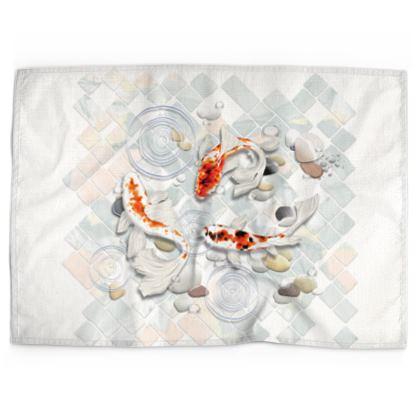 Tea Towels 'Clear Water Koi' Artwork One
