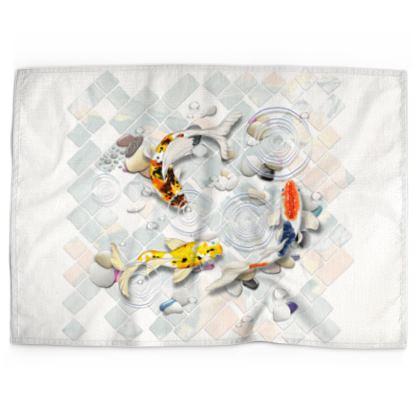 Tea Towels 'Clear Water Koi' Artwork Two