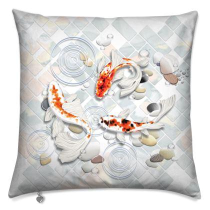 Cushions - Gorgeous 'Clear Water Koi' Artwork One
