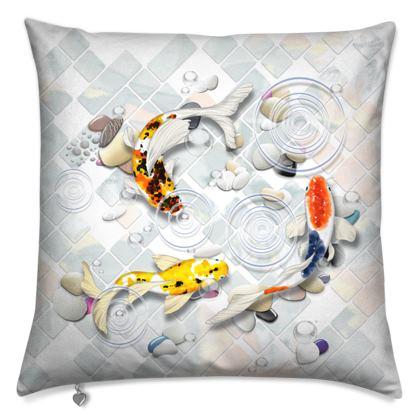 Cushions 'Clear Water Koi' Artwork Two