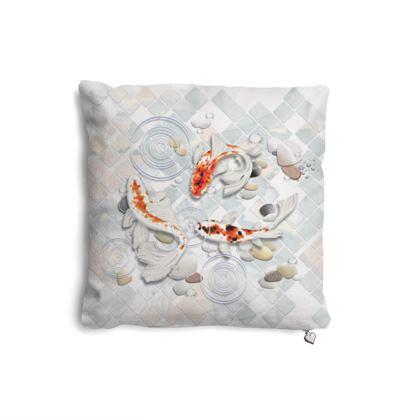 Pillow Set - 'Clear Water Koi' theme