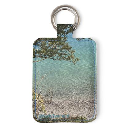 Grebe beach crystal waters key ring