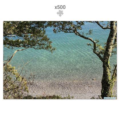 Jigsaw - Grebe beach crystal waters in presentation tin