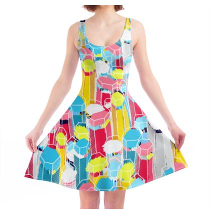 The crystals and gems skater dress