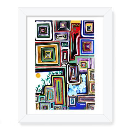 QUEEN CASSETTE Framed Art Print .