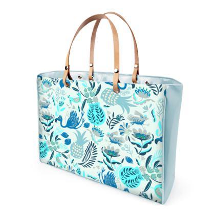 sac à main tropical bleu menthe