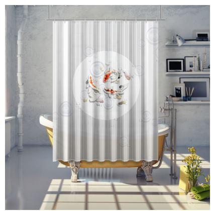 Shower Curtain - Medium 'Clear Water Koi' Theme One