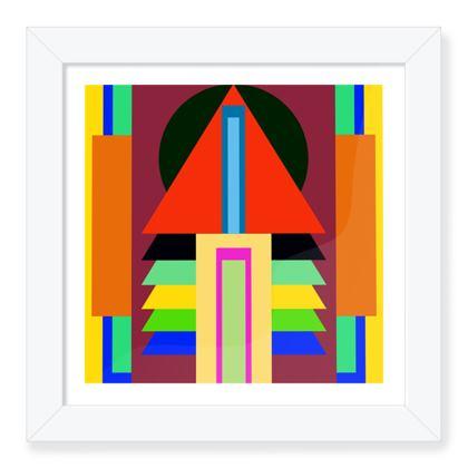 Sun Of House 16 Framed Art Print .