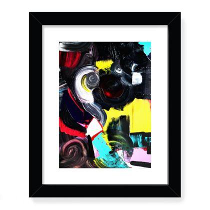 CRATER Framed Art Print .