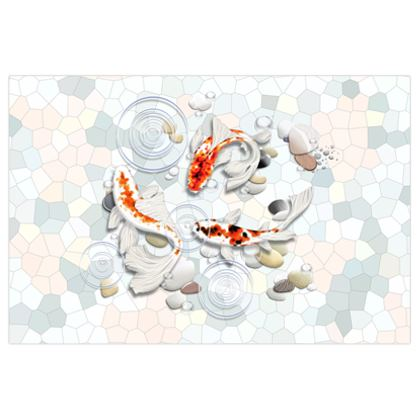 Large Poster Prints - 'Clear Water Koi'  Artwork One 87x58 inch