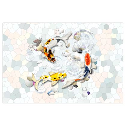 Large Poster Prints 'Clear Water Koi' Artwork Two 87x58 inch