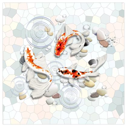 Poster Prints 'Clear Water Koi' Artwork One 24x24 Inch